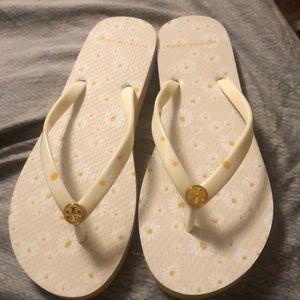 Woman flip flops